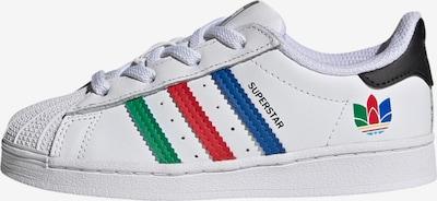 ADIDAS ORIGINALS Sneaker 'Superstar' in blau / grün / rot / weiß, Produktansicht