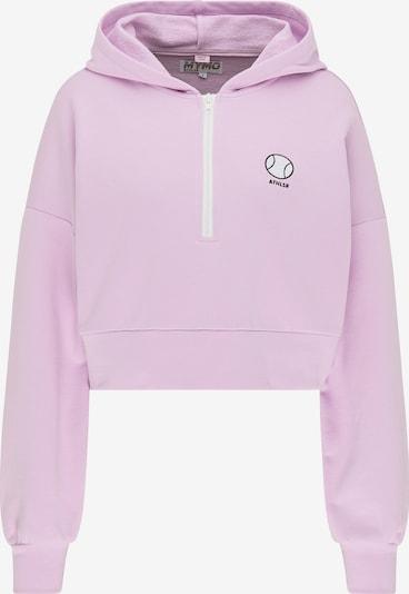 myMo ATHLSR Sweatshirt in helllila / schwarz / weiß, Produktansicht