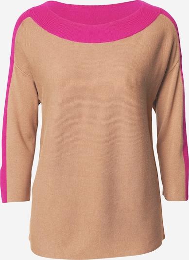 COMMA Pullover in hellbraun / pink, Produktansicht