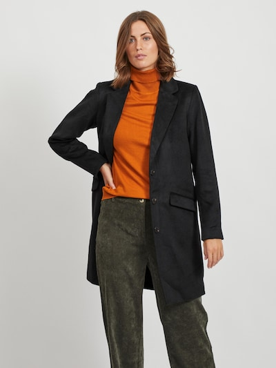 VILA Between-Seasons Coat in Black, View model