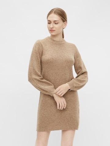 OBJECT Pletené šaty 'Eve Nonsia' - Hnedá