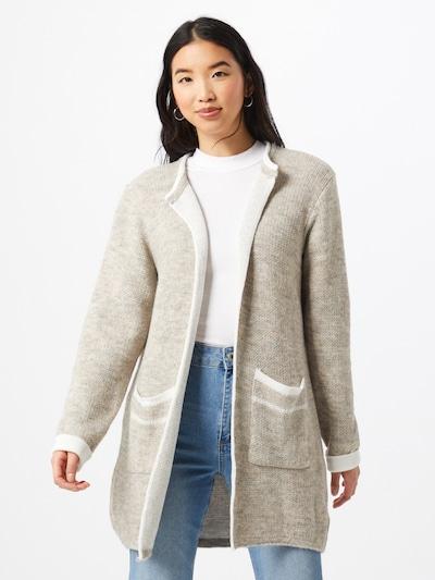 Trendyol Cardigan en crème / gris, Vue avec modèle