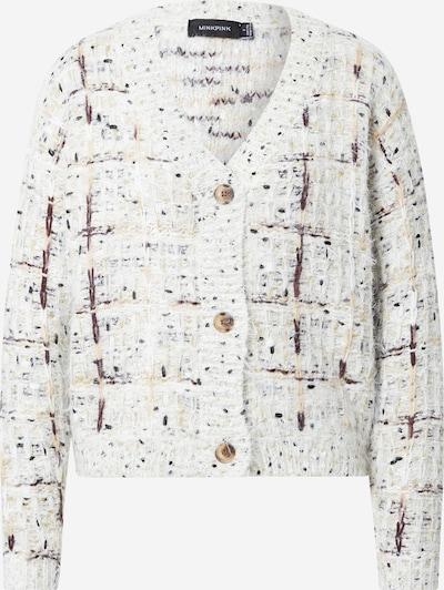 MINKPINK Gebreid vest 'KELLIE' in de kleur Beige / Donkerbruin / Goud / Wit, Productweergave