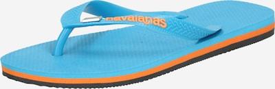 HAVAIANAS Séparateur d'orteils en turquoise / orange, Vue avec produit