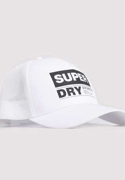 Superdry Casquette de sport en blanc, Vue avec produit