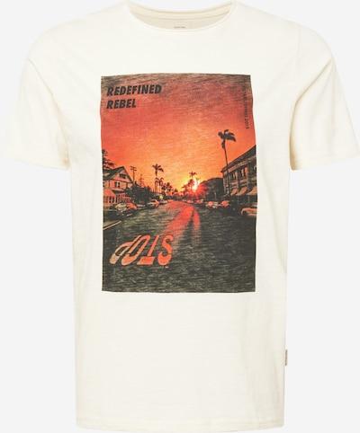 Redefined Rebel T-Shirt 'Amari' in creme / orange / schwarz, Produktansicht