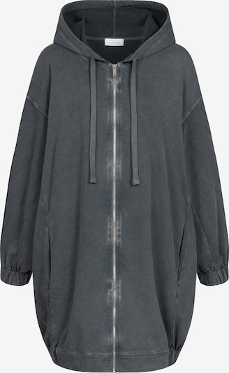 Cotton Candy Sweatjacke 'UCKE' in schwarz, Produktansicht