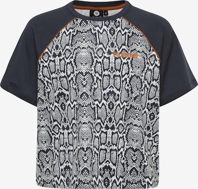 Hummel T-Shirt in dunkelblau / hellbraun / weiß, Produktansicht