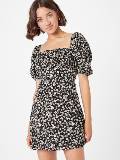 Missguided Лятна рокла в жълто / черно / бяло: Изглед отпред