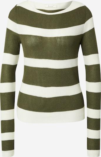 Guido Maria Kretschmer Collection Shirt 'Doro' in khaki / wollweiß, Produktansicht