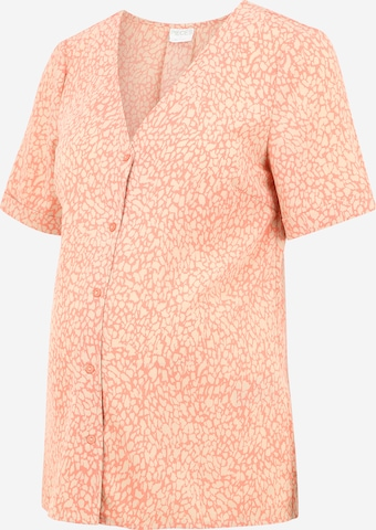 Pieces Maternity Blouse 'GILBERTA' in Orange