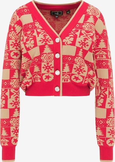 Geacă tricotată faina pe auriu / roșu, Vizualizare produs