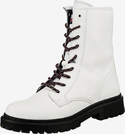 Tommy Jeans Bottines à lacets en blanc, Vue avec produit