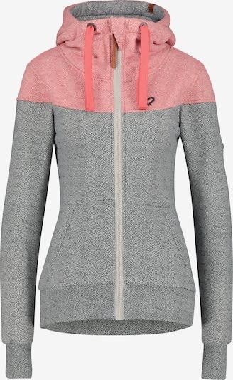 Alife and Kickin Sweatjacke in grau / pink, Produktansicht