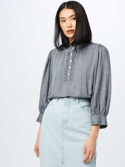 minus Blouse 'Lonny' in Dusty blue / Grey mottled, View model