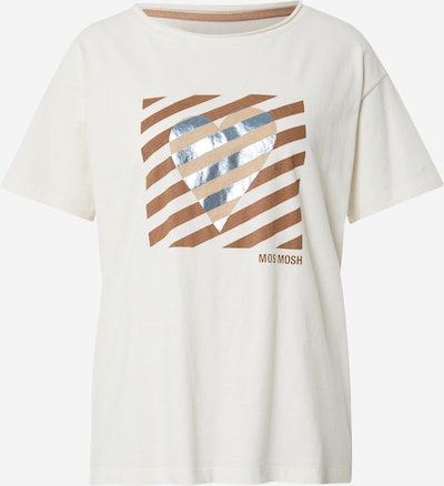 MOS MOSH Shirt in braun / hellbraun / silber / weiß, Produktansicht