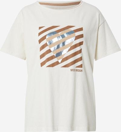 Tricou MOS MOSH pe maro / maro deschis / argintiu / alb, Vizualizare produs