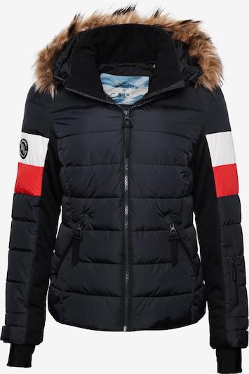 Superdry Winterjas 'Alpine Luxe' in de kleur Navy / Rood / Wit, Productweergave