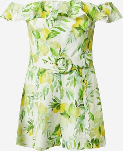 Forever New Combinaison 'Brodie Bardot' en citron / vert gazon / vert pastel / vert clair / blanc, Vue avec produit