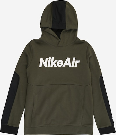 Nike Sportswear Sweatshirt in khaki / schwarz / weiß, Produktansicht