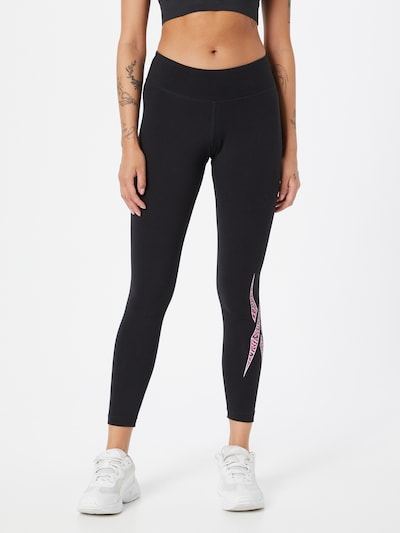Reebok Sport Športové nohavice - ružová / čierna / biela, Model/-ka