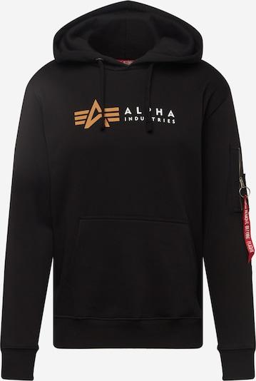 ALPHA INDUSTRIES Mikina - oranžová / čierna / biela, Produkt