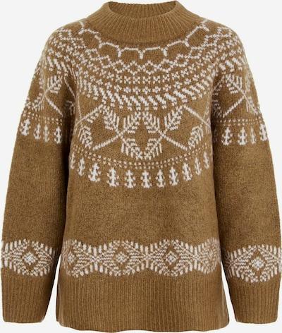 Y.A.S Pullover in braun / weiß, Produktansicht