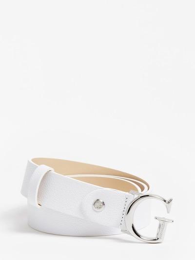 GUESS Колан в бяло, Преглед на продукта