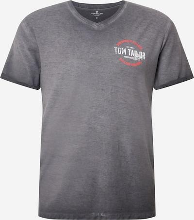TOM TAILOR Majica u tamo siva / crvena / bijela, Pregled proizvoda
