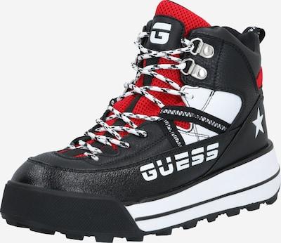 GUESS Snowboots 'Rave/Stivaletto' i rød / sort / hvid, Produktvisning