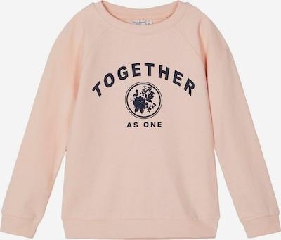 NAME IT Sweatshirt 'NKFVEDA LS SWE UNB T' in rosa / schwarz, Produktansicht