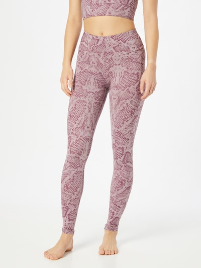 Hey Honey Workout Pants in Mauve / Berry, View model