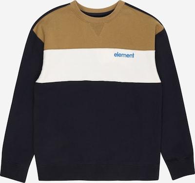 ELEMENT Sportief sweatshirt 'GALAX' in de kleur Navy / Kaki / Wit, Productweergave