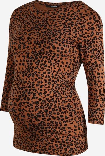 Supermom Shirt in karamell / schwarz, Produktansicht
