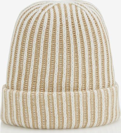 MINE TO FIVE Mütze in beige / weiß, Produktansicht