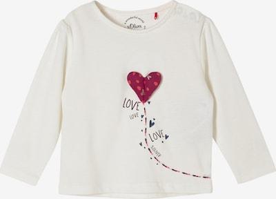s.Oliver Shirt in ecru / rot / weiß, Produktansicht