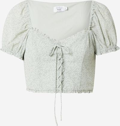 NA-KD Bluse i pastellgrønn / hvit, Produktvisning