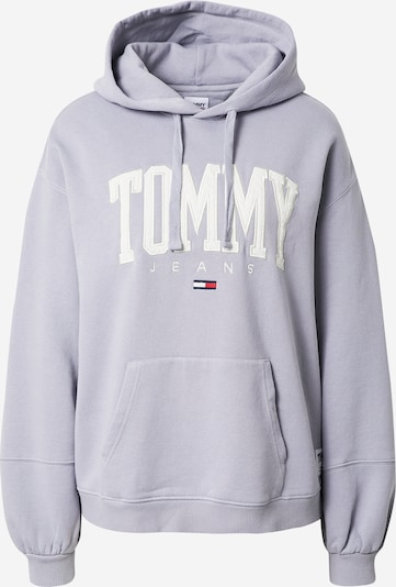 Tommy Jeans Sweatshirt in Lavender / White: Frontal view