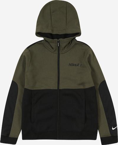 Nike Sportswear Sweatjacke 'Air' in khaki / schwarz, Produktansicht