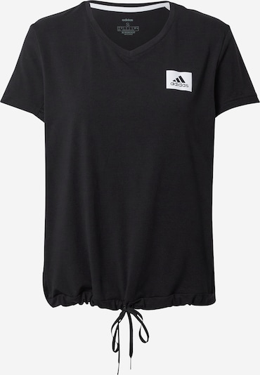 ADIDAS PERFORMANCE Functional shirt in black / white, Item view