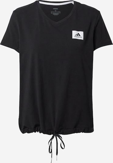 ADIDAS PERFORMANCE Funktionsskjorte i sort / hvid, Produktvisning