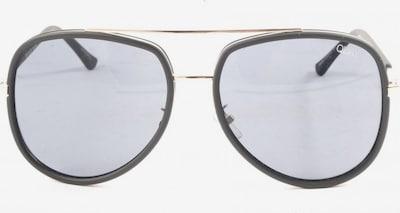 QUAY ovale Sonnenbrille in One Size in blau / schwarz, Produktansicht