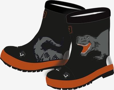 MAXIMO Bottes en caoutchouc 'Dino' en gris / orange / noir, Vue avec produit