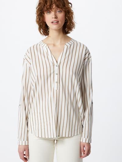 EDC BY ESPRIT Bluse in braun / weiß, Modelansicht
