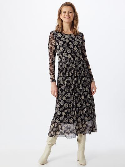 Freequent Kleid 'ANNA' in beige / schwarz, Modelansicht