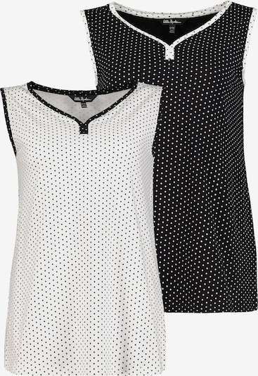 Ulla Popken Top in schwarz / weiß, Produktansicht