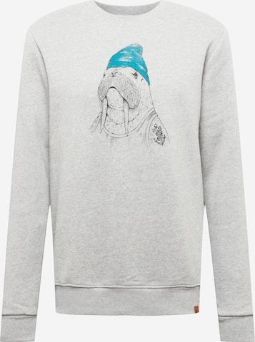 GREENBOMB Sweatshirt 'Animal Walrus - Wild' in Grau