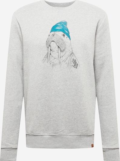 GREENBOMB Sweatshirt 'Animal Walrus - Wild' in blau / grau / schwarz, Produktansicht