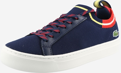 LACOSTE Sneakers in Navy / Neon yellow / Orange red, Item view