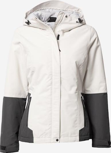 ICEPEAK Outdoorjas 'BELPRE' in de kleur Donkergrijs / Wit, Productweergave